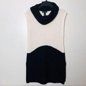 WHBM knit tunic dress cowl neck sleeveless S